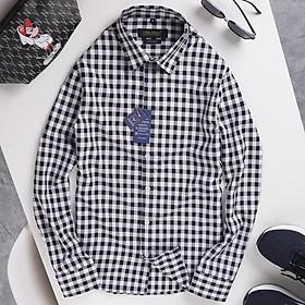 Áo sơ mi nam dài tay gấp hộp Kẻ Ca Rô Vuông cao cấp, chất vải cotton mịn phong cách công sở(SMKV)