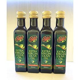 Combo 4 Chai Dầu Oliu Nguyên Chất Cao Cấp Extra Virgin Sita' 250ml Nhập Khẩu Ý Dùng trong Nấu Ăn, Trộn Salat, Làm Đẹp - Olive Extra Virgin Oil 250Ml Sita (Dầu ăn), (Dầu Dưỡng Da)