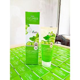 Sữa rửa mặt Dưa Leo - Ekel Foam Cleanser Cucumber 100ml (Tặng 2 mặt nạ Jant Blanc)