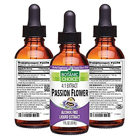 Botanic Choice Passion Flower Herb Liquid Extract - Alcohol-Free Herbal Daily Supplement - Promotes Relaxation and Restfulness Eases Stress and Tension for Overall Wellness