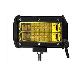 Cụm đèn led trợ sáng oto, 24 bóng led siêu sáng 2 hàng dài 15cm công suất 72w điện 9-32v, đèn phá sương ánh sáng vàng tương thích nhiều xe ô tô, xe máy đời 2019 – Tặng Kèm Móc Khóa 4Tech.