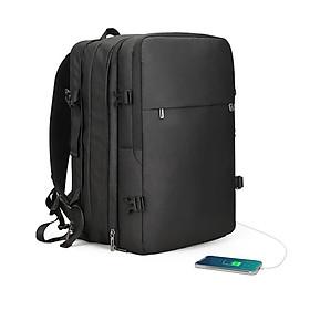 Balo đa năng đựng Laptop, Macbook mở 180 độ có thể nới rộng kèm cáp sạc ẩn cao cấp