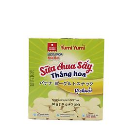 Sữa chua sấy Yumi Yumi vị chuối hộp 30 g (10 g x 3 gói)
