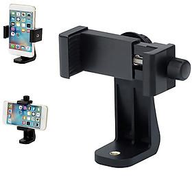 Kẹp điện thoại vặn bằng đinh ốc, kẹp ngang kẹp dọc điện thoại gắn lên tripod chuẩn ren 1/4 - Hàng chính hãng