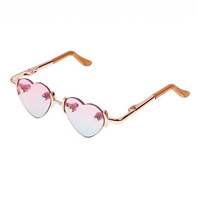 Fashion Gold Leg Heart Glasses Eyewear Eyeglasses for 1/3 BJD SD AS DZ DD