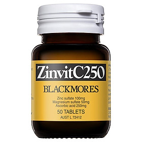 Blackmores ZinvitC250 50 Tablets