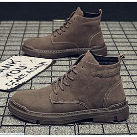 Giày cao cổ bốt nam cao cấp phong cách trẻ cá tính QA374
