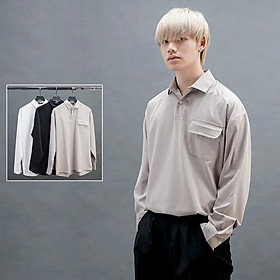 Áo sơ mi KIM Basic Shirt nam trơn basic cổ polo 3 màu cá tính