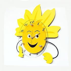 Đồng hồ treo tường - đồng hồ ông mặt trời ngộ nghĩnh - Đồng hồ trang trí - Đồng hồ mặt trời