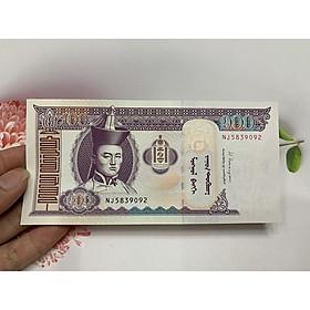 Tiền mã đáo thành công Mông Cổ 100 Turgik , tặng phơi nylon bảo quản tiền
