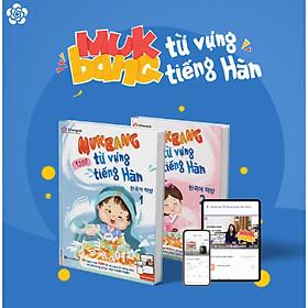 """Bộ sách """"Mukbang 1200 từ vựng tiếng Hàn tổng hợp"""" – Nạp nhanh nhớ lâu 1200 từ vựng trong 50 ngày (bộ 2 cuốn sách + 1200 audio, video phát âm chuẩn Hàn )"""