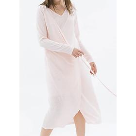 Đầm Cổ V Vạt Đắp THE COSMO Double Wrap Dress - Pink