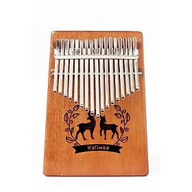 Đàn Kalimba gỗ mahogany 17 phím chuẩn thumb piano kèm đủ phụ kiện (Búa chỉnh âm, dán nốt, túi đựng, sách hướng dẫn) MK K17-ML hươu