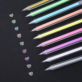 Bộ 9 bút gel màu, bút dạ quang, bút ghi nhớ sắc màu cho học sinh, sinh viên, giáo viên