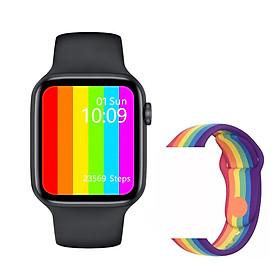 Đồng hồ thông minh cao cấp ANNCOE Watch 6 nghe gọi nhắn tin theo dõi sức khỏe chống nước IP68 + Tặng dây đeo cao cấp - Hàng Chính Hãng