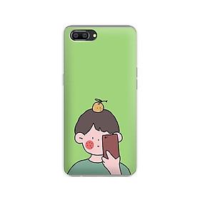 Ốp lưng dẻo cho điện thoại Realme C1 - 01184 7898 BOY01 - in hình chibi dễ thương - Hàng Chính Hãng
