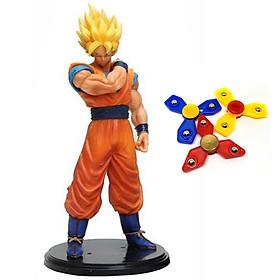 Mô hình Songoku - Dragon Ball cao 20cm - Tặng bộ 3 con quay Spinner