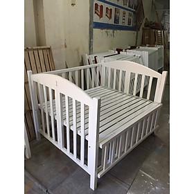 Giường Cũi Trẻ Em - Trắng Tất - 60x100