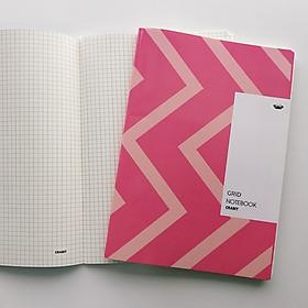 Vở kẻ ô vuông - Màu Hồng - 120 trang (183x260mm)