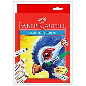 Màu Vẽ Acrylic Faber Castell - 12 Tuýp Màu 572312