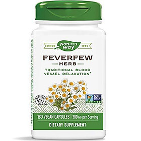 Nature's Way Feverfew; 380 mg TRU-ID Certified Non-GMO Project Vegetarian; 180 Count