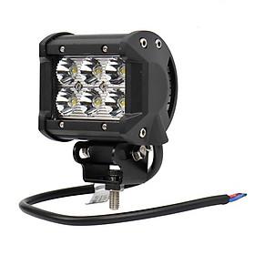 Đèn LED trợ sáng cho xe máy đi phượt C6 A2 + Tặng kèm 1 Đèn lazer đuôi xe ô tô, xe máy chống sương mù
