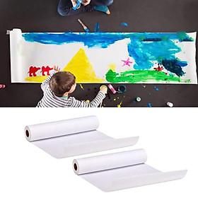 2pcs Drawing Sketching Coloring Painting Paper Art Craft Supply 45cmx25m