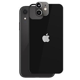 Combo Cường lực mặt sau + Ốp Độ Cụm Camera iPhone XR Giả iPhone 11 Bản Mắt Lồi Giống Thật 99%- Handtown- Hàng Chính Hãng