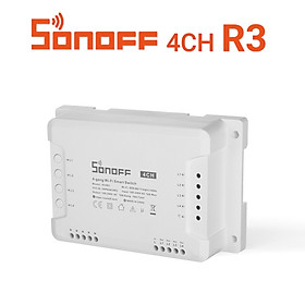SONOFF 4CH R3 4-gang Wi-Fi DIY Smart Switch 4 Way Home Automation Switch Module Compatible with Alexa Google Home