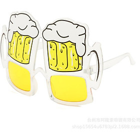 Fun Beer Mug Eyeglasses Overflow Beer Cup Eye Glasses for Costume Party Stage Shown Party Supplies