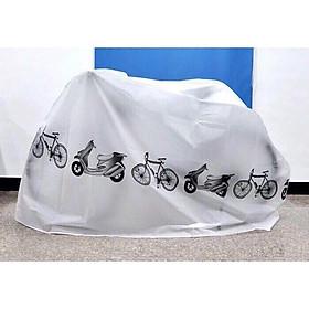 Bạt Áo trùm xe máy, xe đạp loại dày màu ghi