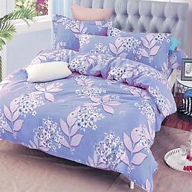 Bộ Drap Không Mền Thương Hiệu Yoona Korea- Blue Lilac