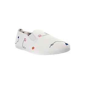 Giày Lười Nữ Flossy W Aldealobos White - Trắng