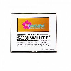 Serum chống nắng, trắng da, mờ thâm nám Sakura Sun white