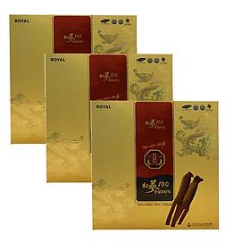 Thực phẩm Korean Red Ginseng 100 bổ sung chất dinh dưỡng cho người lớn 3 hộp