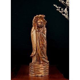 Tượng gỗ mỹ nghệ - Đạt Ma Quá Hải Gỗ Sưa Bắc Đỏ