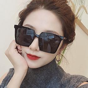 Kính râm gọng vuông nữ, mắt kính to phiên bản Hàn quốc, chống tia cực tím - KM03