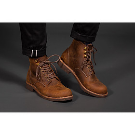 Giày nam cao cổ da bò sap beckman boots