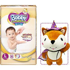 Tã Quần Cao Cấp Bobby Extra Soft Dry L56 (56 miếng) - Tặng 1 cáo bông xinh xắn