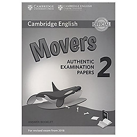 Cambridge English Young Learners 2 for Revised Exam from 2018 Movers Answer Booklet: Authentic Examination Papers