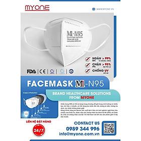 Khẩu Trang M1-N95 - Có thể chống và lọc bụi, khói, vi khuẩn siêu nhỏ