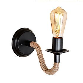 220V E27 LED Iron Art Hemp Rope Wall Lamp for Home Living Room Decor