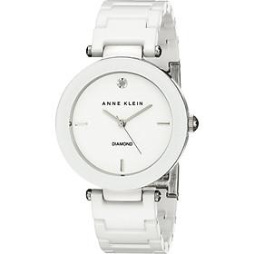 Đồng hồ nữ Đồng hồ nữ Anne Klein Women's AK/1019WTWT Diamond-Accented Watch with Ceramic Bracelet