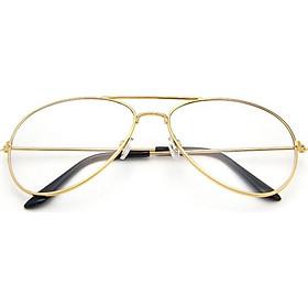 Aviator Glasses Classic Mini Frame Fashion Man Women Boys Girls Clear Lens Black