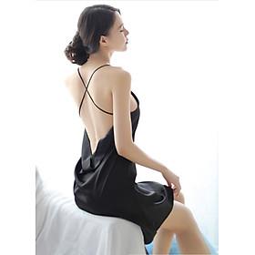 Đồ ngủ nữ Sexy Satin hai dây hở lưng cao cấp  AN08 Phú Đạt. Tặng 3 mặt nạ 30k