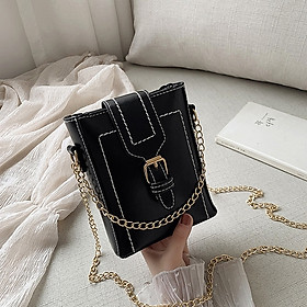 Fashion Mini chain small bag women's 2020 spring and summer new fashion Korean version texture versatile one shoulder cross body Bucket Bag