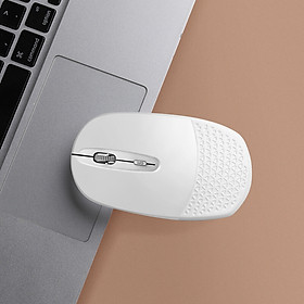 BUBM Wireless Bluetooth Dual Mode Mouse Rechargeable Silent Mouse Apple Laptop Office Mouse SMSB-F White