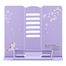 Giá Kẹp Sách, Đỡ Sách, Đọc Sách Chống Cận - The Sakura - Màu Tím