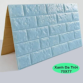 Combo 10 tấm xốp dán tường màu xanh da trời
