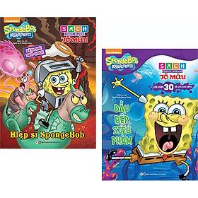 Bộ Sách Thực Hành Tô Màu Spongebob: Hiệp Sĩ Spongebob + Đầu Bếp Siêu Phàm (Bộ 2 Cuốn)